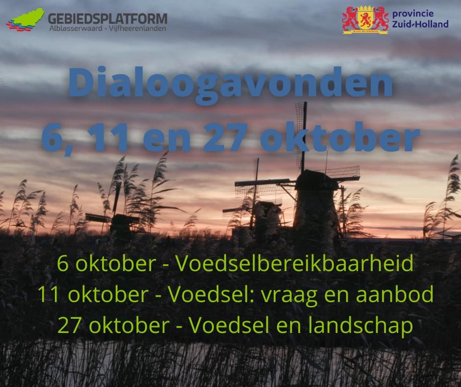 Dialoogavonden 6, 11 en 27 oktober
